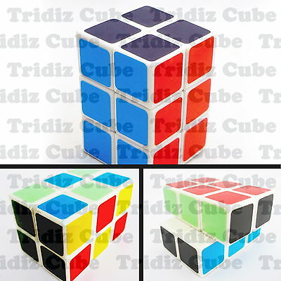2x2x3 White Cuboid Cube twisty puzzle smooth New Fun Toy - US SELLER -