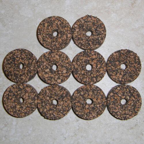 "10 BLACK LARGE GRAIN RUBBERIZED RUBBER CORK RINGS 1 1//4/"" D x 1//2/"" H x 1//4/"" I.D."