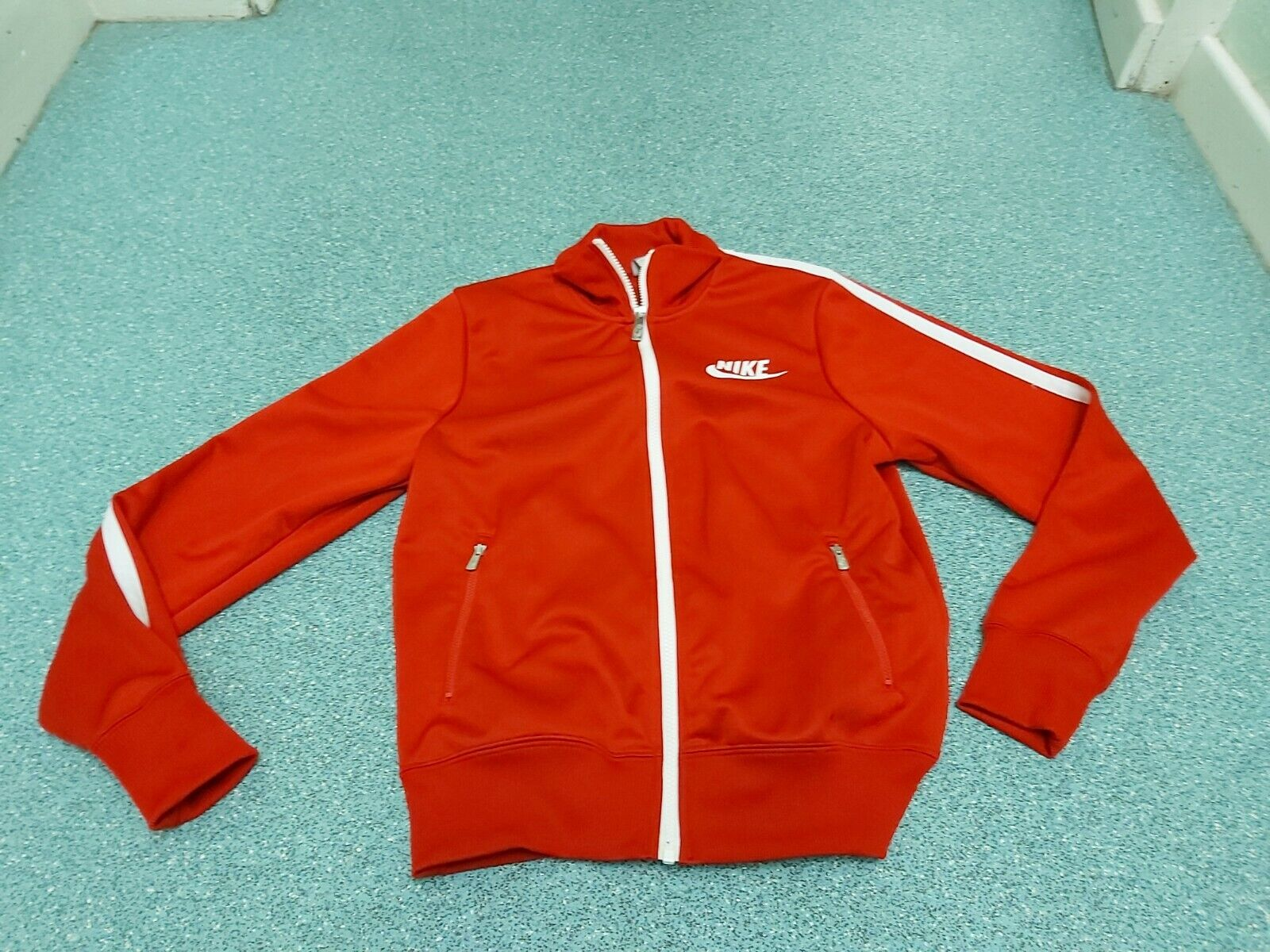 Nike Small Mens Red Zip Up Top