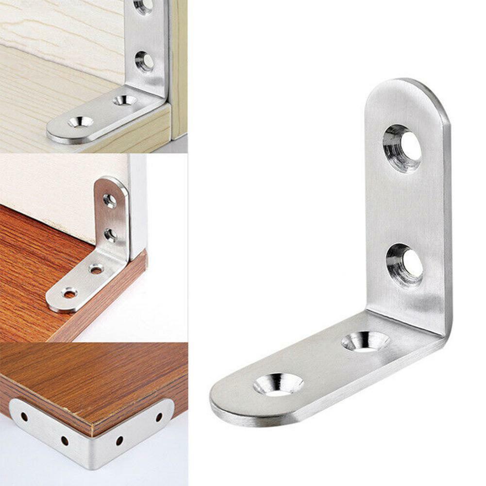 Shelf Angle Bracket Support Corner Brace 85mm x 85mm,Stainless Steel 10Pcs