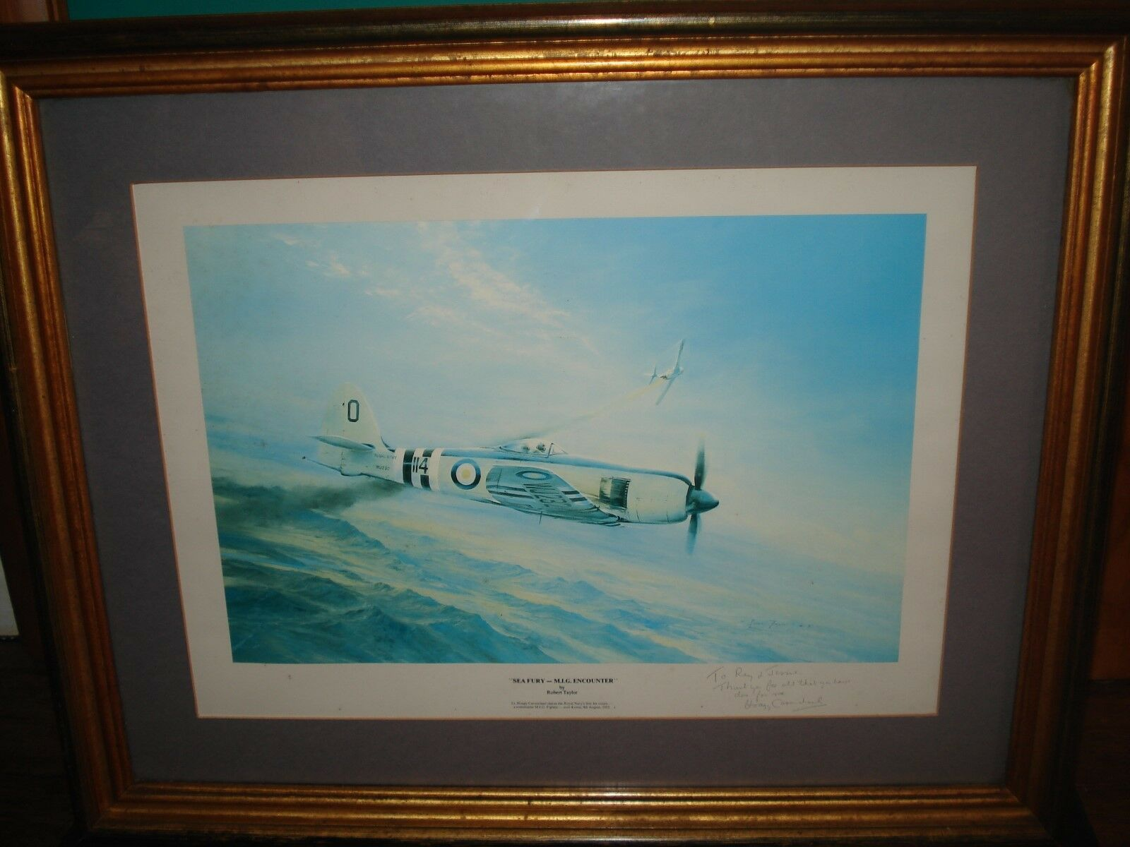 Sea Fury - M.I.G. Encounter print, a personnalised print from the pilot himself.