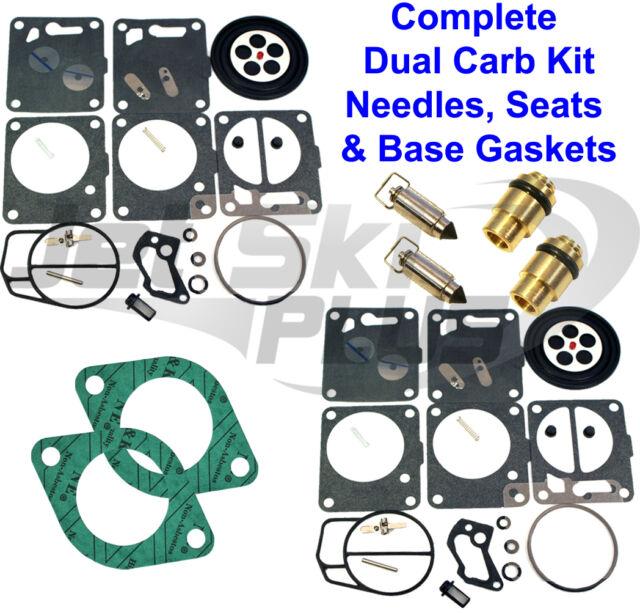 SeaDoo Dual Mikuni Carburetor Rebuild Kit & Needle Seat & Carb Gasket GTX 96-97