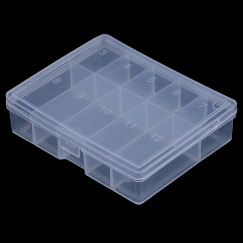 Details about  /10Grid transparent fishhook box fish lure hooks fishing accessories tool cash3