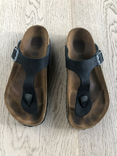 Sandaler, str. 35, Birkenstock,  Sort,  Læder,  God men…