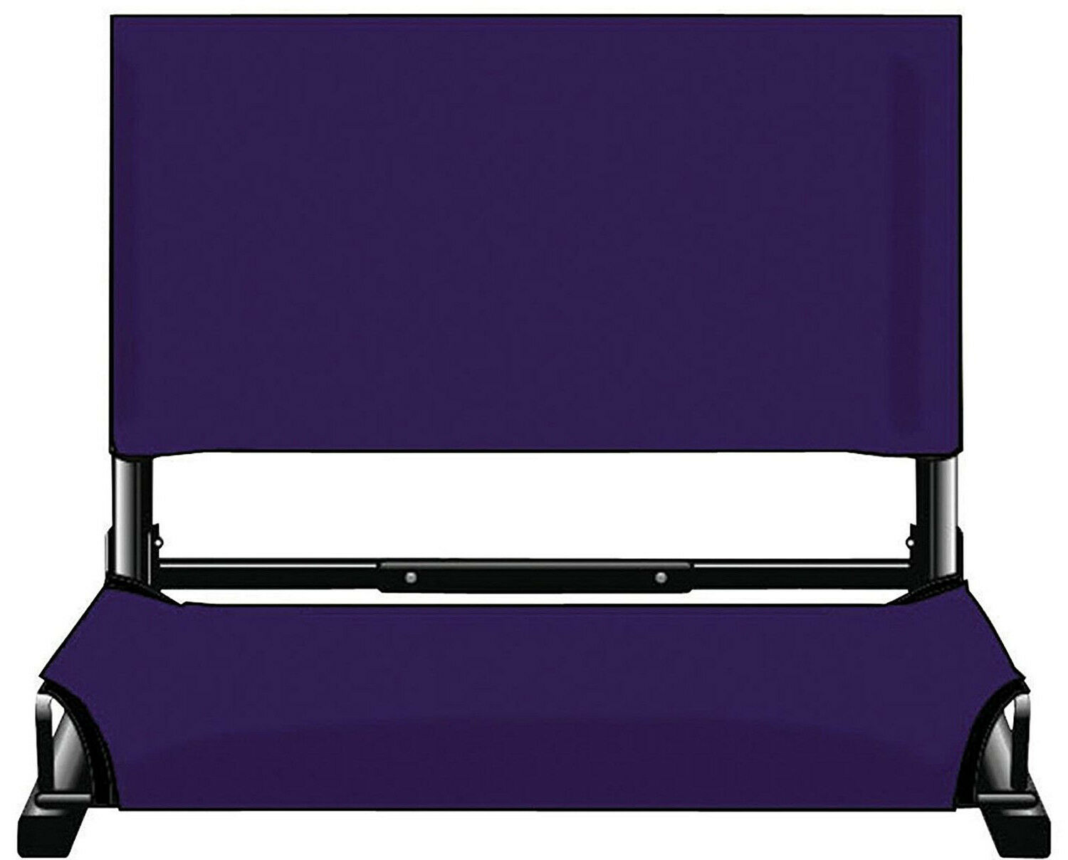 PURPLE WIDE Folding Stadium Chair Bleacher Seat Portable Sturdy Cushion