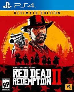 Red-Dead-Redemption-2-Ultimate-Edition-PS4-Playstation-4-rare-Collector-039-s-game