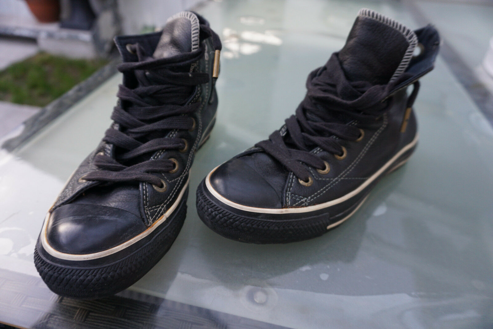 All Star Converse chaussures femmes Turnchaussures Chuck Sportif Taille 37 en cuir noir top