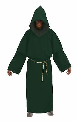 Adults Forest Green Druid Pagan Monk Costume Roleplay LARP Fancy Dress