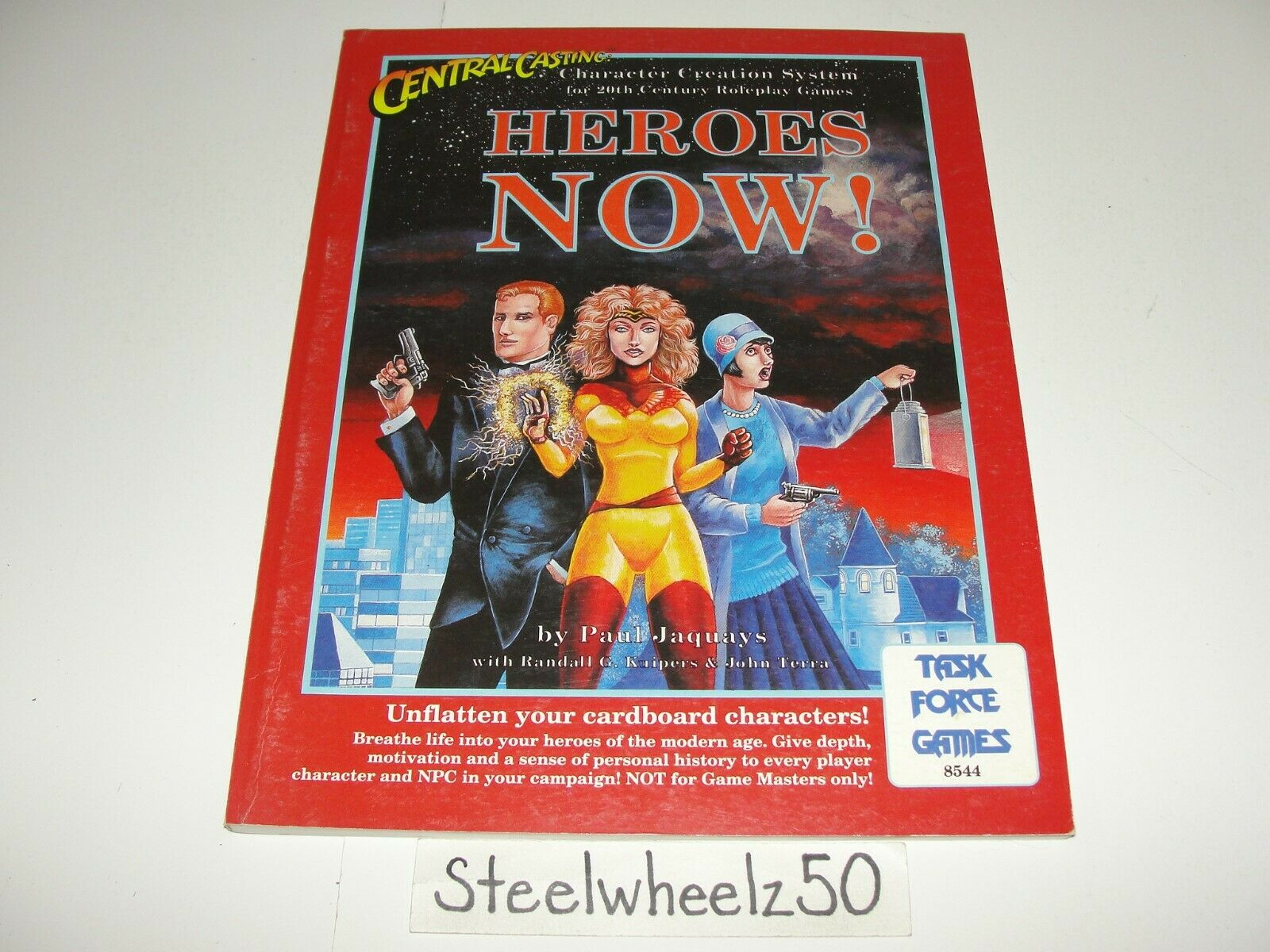 Central Casting Heroes  Now Task Force giocos Sci Fi RPG 8544 1991 Supplement RARE  prezzo basso