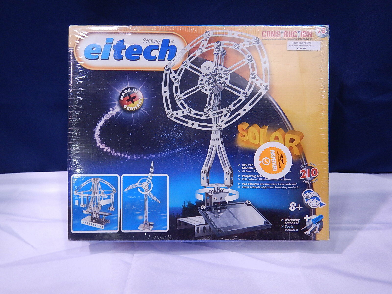 Eitech Solar Metal Building Construction C78 Deluxe 210 Pc Kit w Motor T1