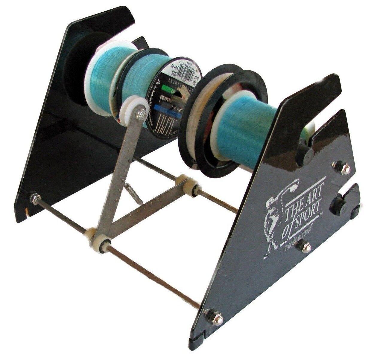10 PC Rack and Reels fishing gear line spooler spool holder line winder