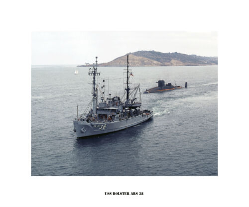 US Naval Ship USS Bolster ARS 38 USN Navy Photo Print
