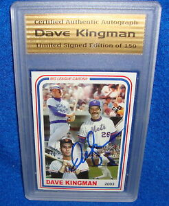2003-Dave-Kingman-Limited-Edition-Autographed-Card-COA-Only-150-Produced