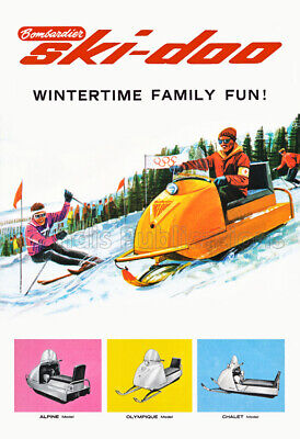 Vintage Advertising Poster 1963 Polaris Sno-Traveler Snowmobile