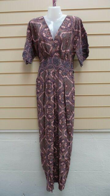 CLOSET DRESS PINK AND MULTI SIZE 8 PRINT DETAIL MAXI  BNWT  (G049