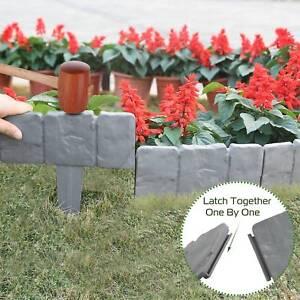 20x Home Garden Border Edging Plactic Fence Stone Lawn Yard Flower