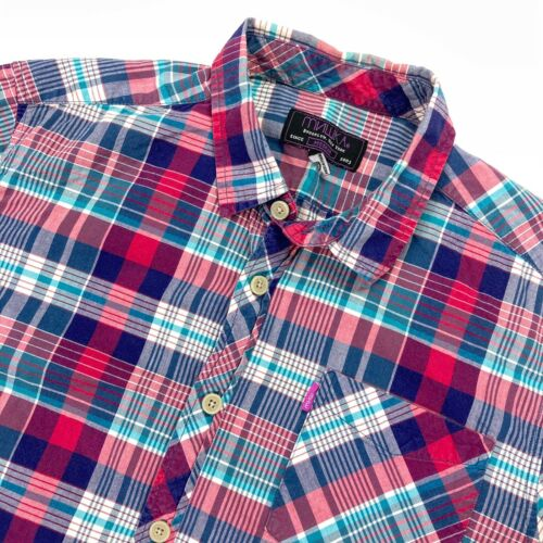 Mishka NYC MNWKA Men's Ruffle Plaid Button Shirt B