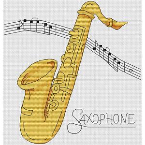 Saxofon-Cross-Stitch-Design-W203mm-X-H203mm-W8-034-X-H8-034-kit-o-el-cuadro