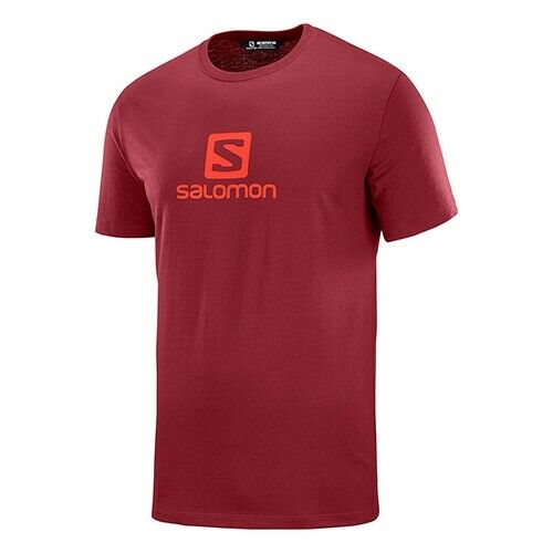 Red  PN LC1052400 Salomon Men/'s Coton Logo SS Tee M Shortsleeve T-Shirt
