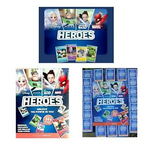 Sainsburys-Disney-Heroes-Cards-amp-Album-Marvel-Pixar-Disney-Trading-Cards-New