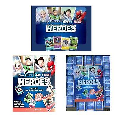 Sainsburys Disney Heroes Cards /& Album Marvel Pixar Disney Trading Cards New