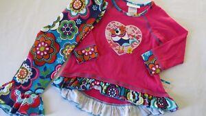 NEW-Bonnie-Jean-Girls-Ruffle-Pants-Shirt-Love-Bird-Outfit-Fall-Flower-Leggings