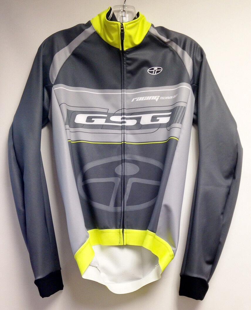 Elite windoff Max a prueba de viento Ciclismo chaqueta (amarillo gris) Hecho en Italia por Gsg