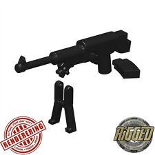 Black Machine Pistol compatible with toy brick minifigures Army SWAT W144 M93R