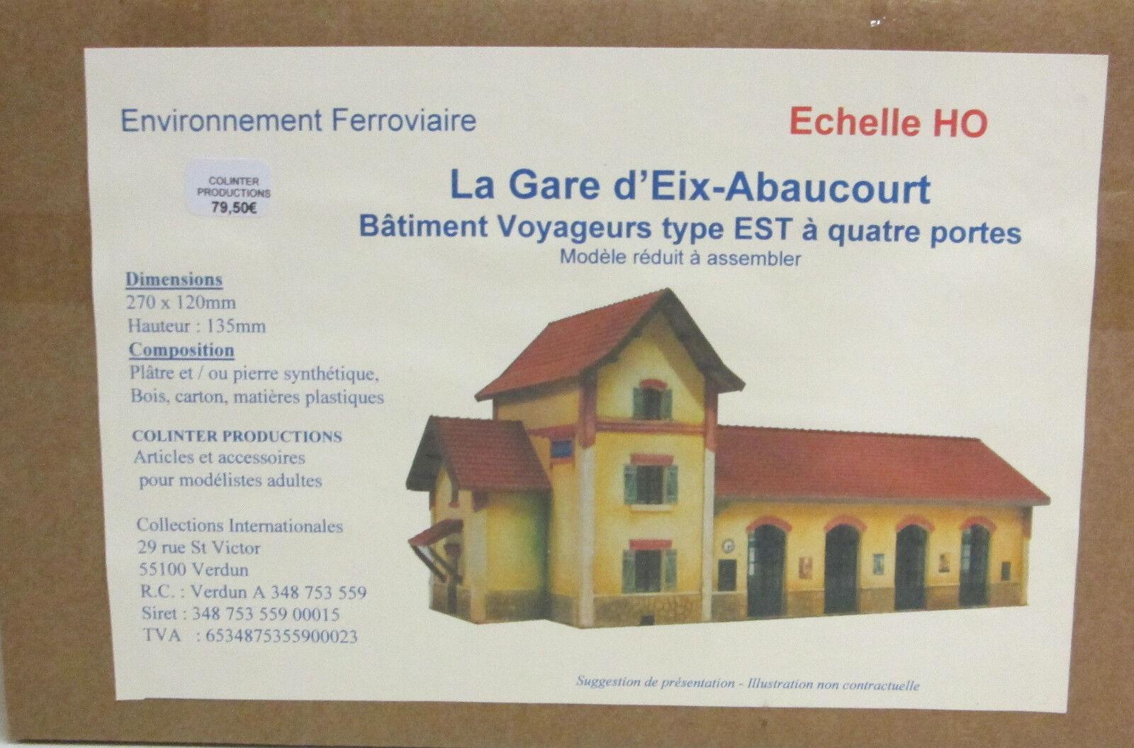 Colinter Productions)  La Gare d'Eix -Abakurt - BV typ Est - Echelle HO