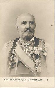 Adel-Nikolaus-Fuerst-von-Montenegro-mit-Orden-alte-Foto-Ansichtskarte-um-1910