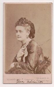 Vintage-CDV-Carlotta-Addison-English-Actress-Elliott-amp-Fry-Photo-London