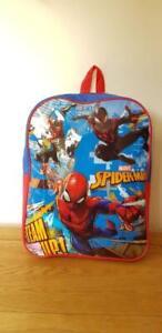 Pflichtbewusst Jungen Rucksack Spiderman Design Blau/rot Ideal Schule Holiday Tage Out Weder Zu Hart Noch Zu Weich Taschen