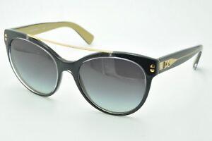 8450ddf66c7a Dolce   Gabbana DG 4280 Sunglasses 2955 8G Black on Gold   Gray ...