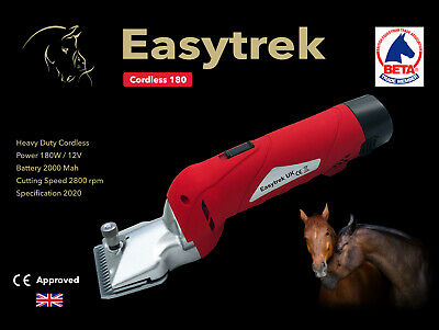 Easytrek-UK  Cordless heavy duty horse clippers trimmers 2 batteries /& 2 blades