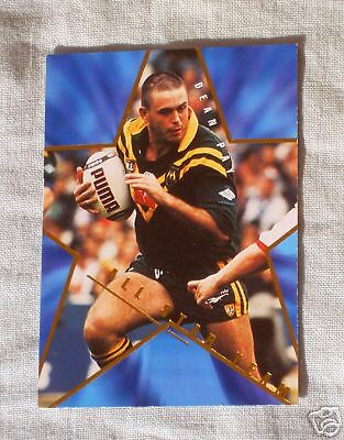 1996 ALL STAR RUGBY LEAGUE CARD AS9 DEAN , KANGAROOS