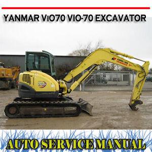 yanmar vio75 vio 75 excavator full factory workshop repair service rh ebay com au Yanmar Tractor Parts Yanmar Marine Diesel Engines