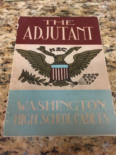 Washington DC Central Adjutant High School Yearbook Cadets 1932