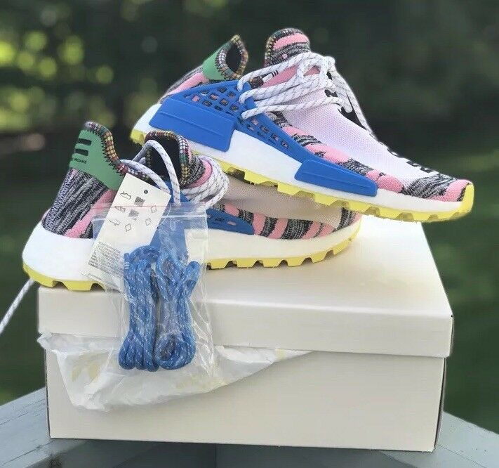NEW ADIDAS PHARRELL WILLIAMS HU HUMAN RACE NMD SOLAR PACK PACK PACK PINK YELLOW SZ 8.5 41d604