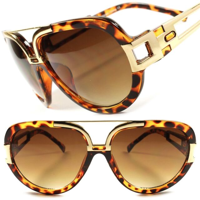 Stylish Vintage Retro Hip Hop Rapper Rich Look Tortoise Mens Womens Sunglasses