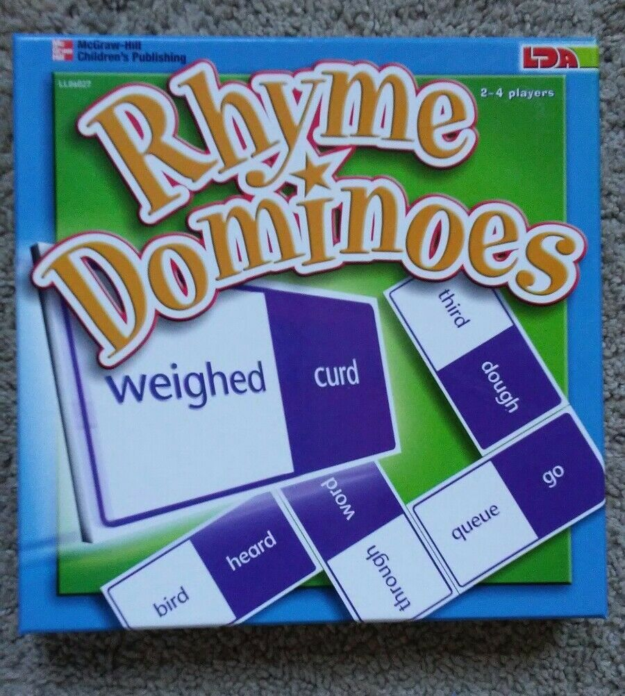 Rhyme Dominoes (Mcgraw-Hill) New - Very Rare Board Game  Promotional Release