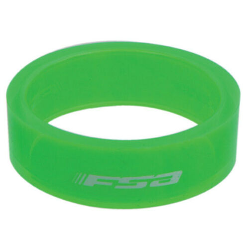 "green 10//bag 1-1//8/"" x 10mm FSA PolyCarb headset spacer"