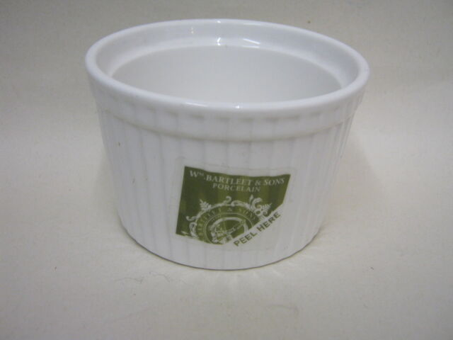 New Wm Bartleet White Porcelain Deep Ramekin Dish 9cm x 6cm T408