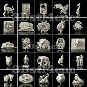 25-3D-STL-Models-Animal-Hunting-for-CNC-Router-Carving-Machine-Artcam-aspire