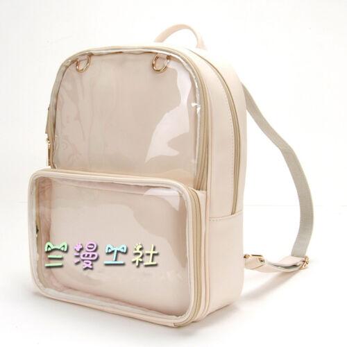 Transparent Clear Itabag Backpack Shoulders Bag Lolita Women Harajuku Doll Shows