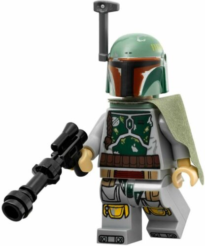 Lego Boba Fett 9496 Head Beard Stubble Desert Skiff Star Wars Minifigure