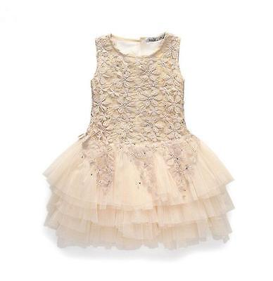 Toddler Baby Kids Girls  Lace Sleeveless  princess Party  dress for 3-7Years