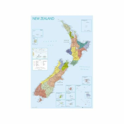 Maxi Poster New Zealand Map