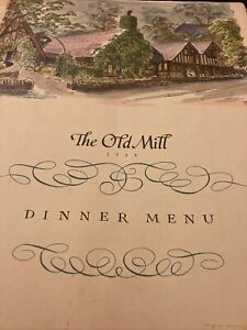 Vintage-Menu-The-Old-Mill-1968-Toronto-Canada-A-La-Cart-Menu-Mailed-PS16