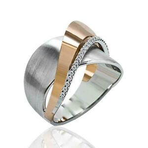 Mode-kreative-damen-zweifarbige-legierung-ringe-frauen-geschenk-schmuck-hoc-W8E7