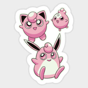 Pokemon Jigglypuff Igglybuff Pink Vinyl Decal Wall Decor Bumper Laptop Sticker Ebay